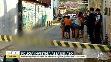 Homem é morto a tiros na frente da esposa grávida em Maracanaú - Saiba mais em g1.com.br/ce