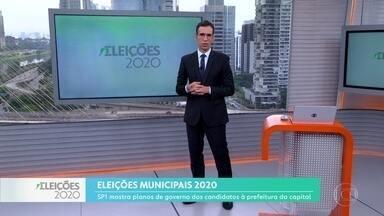 Candidatos à Prefeitura de São Paulo falam sobre mobilidade urbana - SP1 mostra planos de governo das eleições municipais