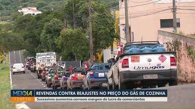 Revendas protestam contra reajustes no preço do gás - Sucessivos aumentos corroem margem de lucro de comerciantes.
