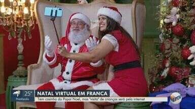Casa do Papai Noel em Franca, SP terá visita de forma virtual - Para mais informações, é preciso mandar mensagens para WhatApp (16) 99997-5756.