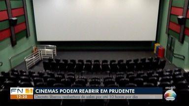 Decreto libera retomada dos cinemas em Presidente Prudente - Locais deverão seguir normas impostas pela fase amarela.