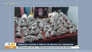 Operação da PM apreende drogas na Cabanagem, em Belém - Apreensão foi na noite de quarta em casa na passagem 12 de Junho.