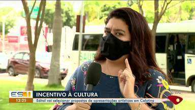Edital seleciona projetos para a cultura em Colatina, no ES - Assista.