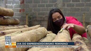 Empreendedorismo feminino: conheça a história de duas empreendedoras de Juiz de Fora - No Dia do Empreendedorismo Feminino, reportagem do MG1 conta a história de Nicoly Domingos e Amanda Ferreira.