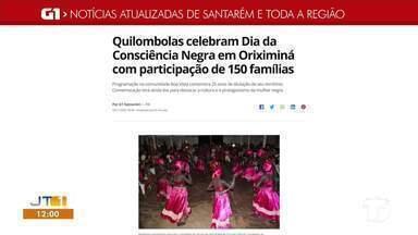 Programação da Semana da Consciência Negra em Oriximiná é destaque no G1 - Saiba mais sobre a programação.