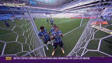 Grêmio vence Cuiabá e avança para a semifinal da Copa do Brasil pela 15ª vez - Tricolor é o primeiro clube brasileiro a alcançar essa marca na competição.