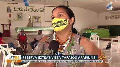 Justiça suspende procedimento para autorização do plano de manejo florestal - Saiba mais detalhes da decisão.