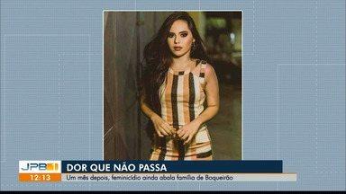 Família lamenta um mês da morte de jovem, em Boqueirão - Viviane foi morta com um tiro na cabeça; suspeito é ex-namorado.