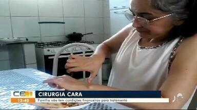 Família pede ajuda para cirurgia de paciente que precisa ser feita no exterior - Saiba mais no g1.com.br/ce