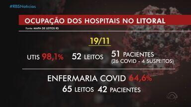 Hospitais estão sem leitos de UTI disponíveis para Covid-19 no Litoral Norte - Assista ao vídeo.