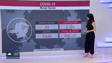 Número de casos confirmados de coronavírus em Minas passa de 390 mil - 9.648 pessoas morreram no estado, até o momento, pela doença.