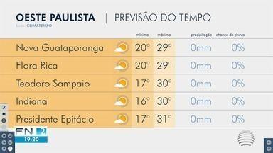 Forte chuva causa alagamentos e derruba árvores em várias cidades do Oeste Paulista - Temporal foi registrado na noite desta quinta-feira (18).