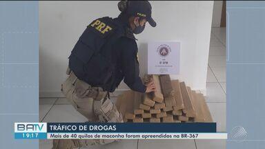 Quarenta quilos de maconha é apreendido dentro de veículo em rodovia, na Bahia - Caso ocorreu na BR-367, entre Eunápolis e Porto Seguro.