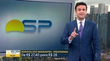 Governo autoriza reajuste no valor dos pedágios em SP - Na Imigrantes, valor vai para 28 reais a partir do dia 1º de dezembro.