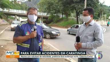 Diretor de Trânsito comenta sobre últimos acidentes ocorridos em Caratinga - Prefeitura fará intervenções na avenida Catarina Cimini.