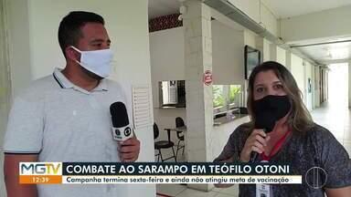 Campanha de vacinação contra o sarampo não atinge meta em Teófilo Otoni - Minas Gerais já registrou 21 casos da doença neste ano.