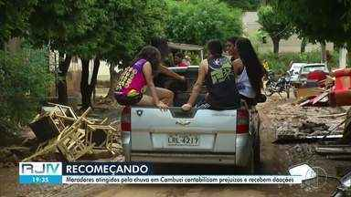 Moradores atingidos pela chuva em Cabuci, RJ, começam a contabilizar os prejuízos - Mais de 4 mil pessoas foram afetadas pela chuva, que começou por volta das 4h desta quarta-feira (18).