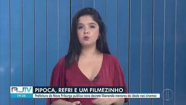 Prefeitura de Nova Friburgo, RJ, publica decreto liberando menores de idade nos cinemas - Novo decreto foi publicado nesta quinta-feira (19).