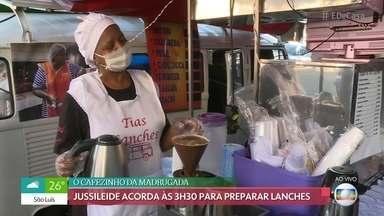 Conheça a rotina dos trabalhadores que vendem comida na rua - Jussileide acorda às 3h30 para preparar lanche