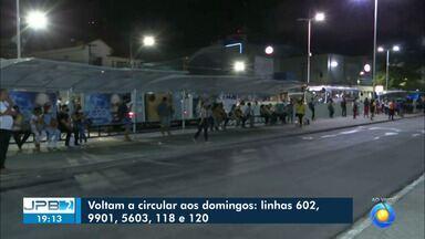 Cinco linhas de ônibus voltam a circular aos domingos em João Pessoa - Confira linhas que voltam a funcionar