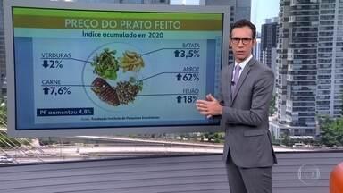 Refeição fora de casa acumula alta de quase 5% no ano - Preço do PF só não está mais caro porque os donos de restaurantes seguram os preços, dizem economistas
