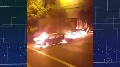 Criminosos assaltam bancos em Araraquara, no interior de SP - Polícia acredita que pelo menos 20 bandidos participaram do ataque.