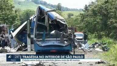 SP2 - Edição de quarta-feira, 25/11/2020 - Empresa de ônibus envolvido em acidente teria usado estrada mais perigosa para evitar fiscalização. Estado de SP teve 146 mortes por Covid nas últimas 24 horas. Pesquisa Ibope para 2º turno em São Paulo: Bruno Covas, 48%; Guilherme Boulos, 37%.