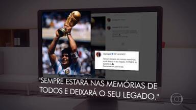 Atletas e admiradores do mundo todo lamentam morte de Maradona - Lionel Messi, Cristiano Ronaldo, Neymar e nomes de outros esportes falaram sobre a morte do jogador, que tinha 60 anos.