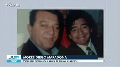 Paraenses lamentam morte de Diego Maradona - Ídolo e craque argentino, um dos melhores jogadores do mundo, morreu nesta quarta-feira vítima de uma parada cárdio-respiratória.