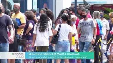 Mudanças no comando de Mauá e Diadema - Em Mauá, prefeito Atila Jacomussi (PSB) não conseguiu a reeleição e perdeu a disputa para Marcelo Oliveira. Candidato é do PT, mesmo partido de Filippi Jr. que assume a prefeitura de Diadema.