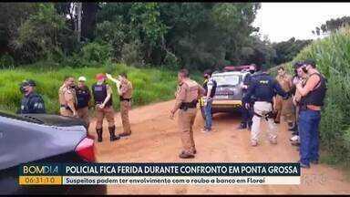 Policial militar é baleada durante perseguição em Ponta Grossa - Segundo a polícia, pelo menos dez tiros de fuzil foram disparados contra a viatura.
