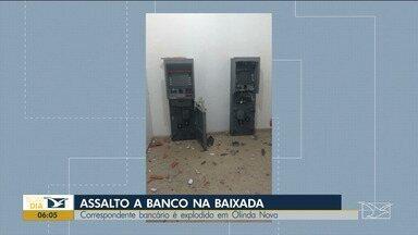 Polícia ainda está a procura dos criminosos que explodiram agência bancária na baixada - Ao Vivo de Santa Inês o repórter Erisvaldo Santos tem as informações sobre esse caso.