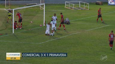 Comercial vence Primavera e se garante nas quartas da Copinha - Leão bate time de Indaiatuba por 3 a 1 e está classificado para a próxima fase da Copa Paulista; Adversário sai nesta quinta-feira.