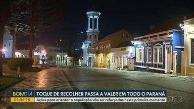 Pontos de aglomeração estavam vazios no primeiro dia do toque de recolher - Três locais foram fechados pela fiscalização em Curitiba.