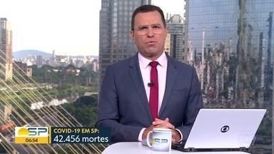 São Paulo registra quase 42 mil e quinhentas mortes pela Covid-19 - Número de casos confirmados bateu 1.259.704.