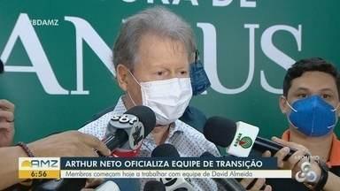 Arthur Neto oficializa equipe de transição da prefeitura de Manaus - Membros começam hoje a trabalhar com equipe de David Almeida.