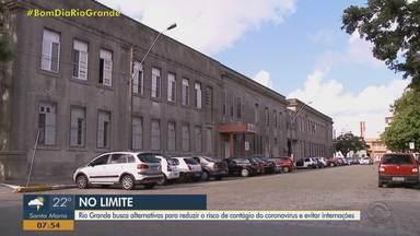 Leitos de UTI estão 100% ocupados no Hospital Universitário da FURG, em Rio Grande - Assista ao vídeo.