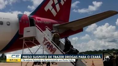 Homem é preso suspeito de trazer drogas para o Ceará - Saiba mais em: g1.com.br/ce