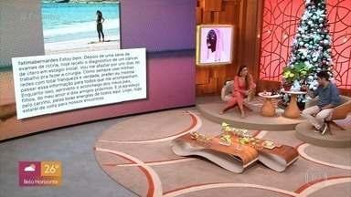 Programa de 03/12/2020 - Patrícia Poeta e André Curvello mandam mensagens positivas para Fátima Bernardes, que descobriu um câncer no útero em estágio inicial. Simone e Simaria e Ary Fontoura participam do programa