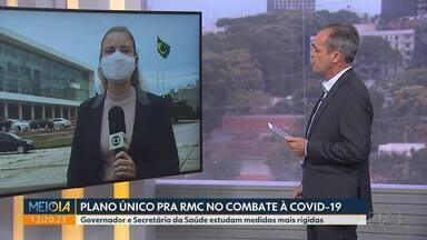 Governo planeja plano único para a RMC no combate à Covid-19 - Governador e Secretário da Saúde estudam medidas mais rígidas.