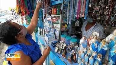 Comércio tem mudanças devido à pandemia durante festejos de Nossa Senhora da Conceição - Número de ambulantes foi diminuído neste ano.