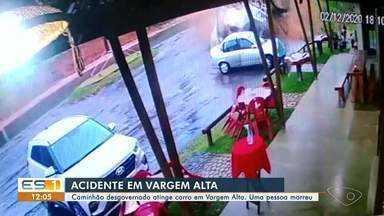 Vídeo mostra acidente com morte em Vargem Alta, no ES - Assista a seguir.