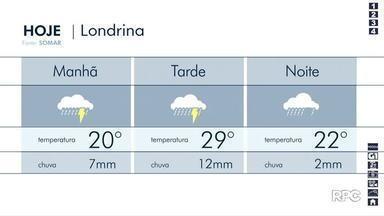 Quinta-feira (3) deve ser chuvosa em todo o estado - Nos próximos dias, tempo continua instável.