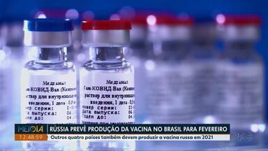 Rússia prevê para fevereiro produção de vacina contra Covid-19 no Brasil - Outros quatro países também devem produzir vacina russa em 2021.