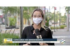 Prefeitura de Bandeirantes mantém concurso público - Após recomendação do MPE, Prefeitura mantém concurso agendado para o fim de semana