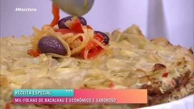 Mil Folhas de Bacalhau - Ana Maria Braga ensina a fazer a receita à base de batatas