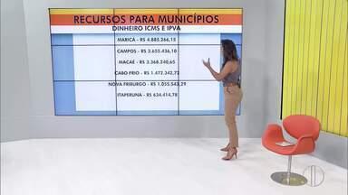 Governo do Rio distribui R$ 111 milhões para 92 cidades - Valor é referente a arrecadação de ICMS e IPVA no mês de novembro.
