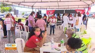 Sindicatos protestam contra projetos que mudam regras previdenciárias em Sergipe - Sindicatos protestam contra projetos que mudam regras previdenciárias em Sergipe.