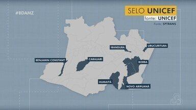 Sete municípios do Amazonas ganham selo Unicef - Selo é o reconhecimento por avanços na garantia de direitos de crianças e adolescentes.