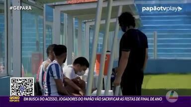 Jogadores do Paysandu abrem mão de festividades de final de ano - Foco é total na campanha pelo acesso à Série B.